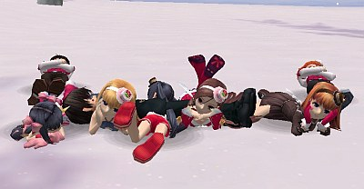 ...and everyone ends up in a dogpile lol