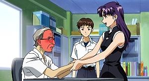 Misato makes old men blush.