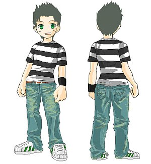 Ken's striped shirt & jeans