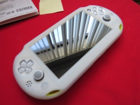 How the rubber case looks, never have a portable console without one!