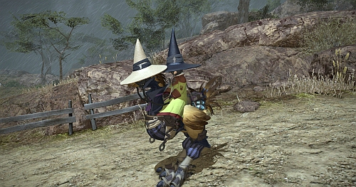 My Choco became a black mage too