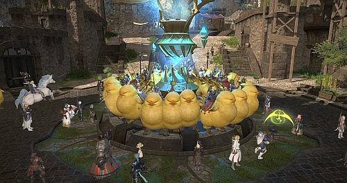 Fat chocobo army taking over