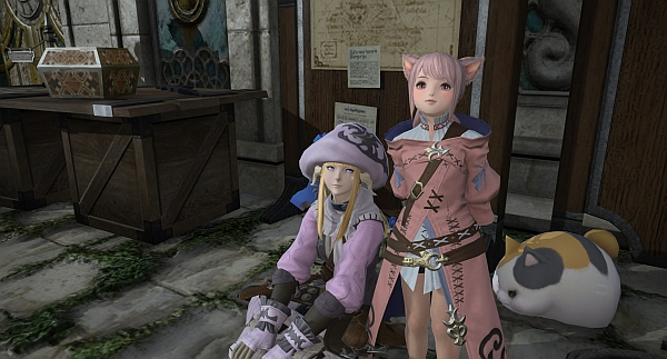 Just sittin' around waiting for nodes with my Miquitten friend x3